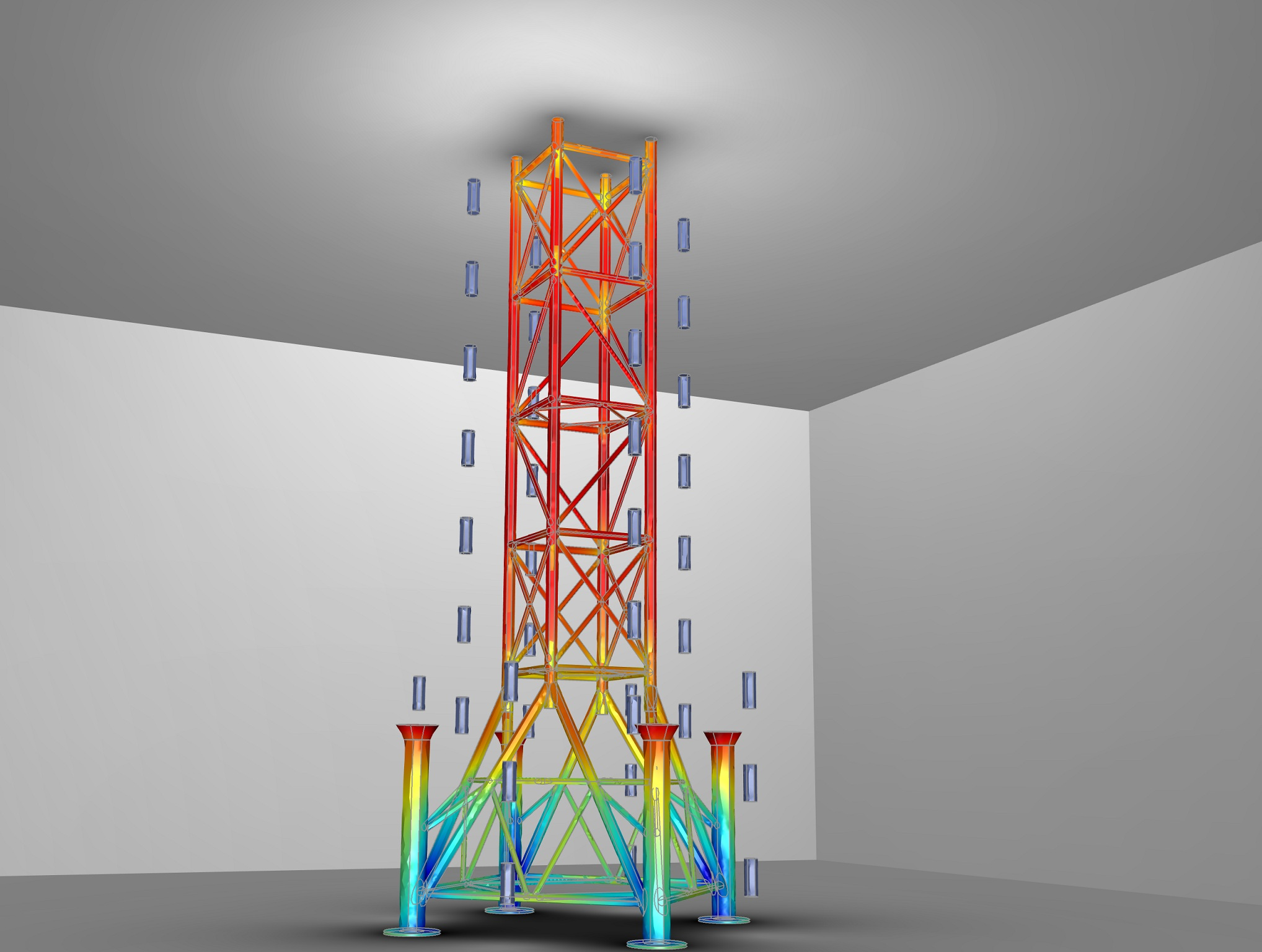 Model of an Oil Rig in the COMSOL Multiphysics Corrosion Module