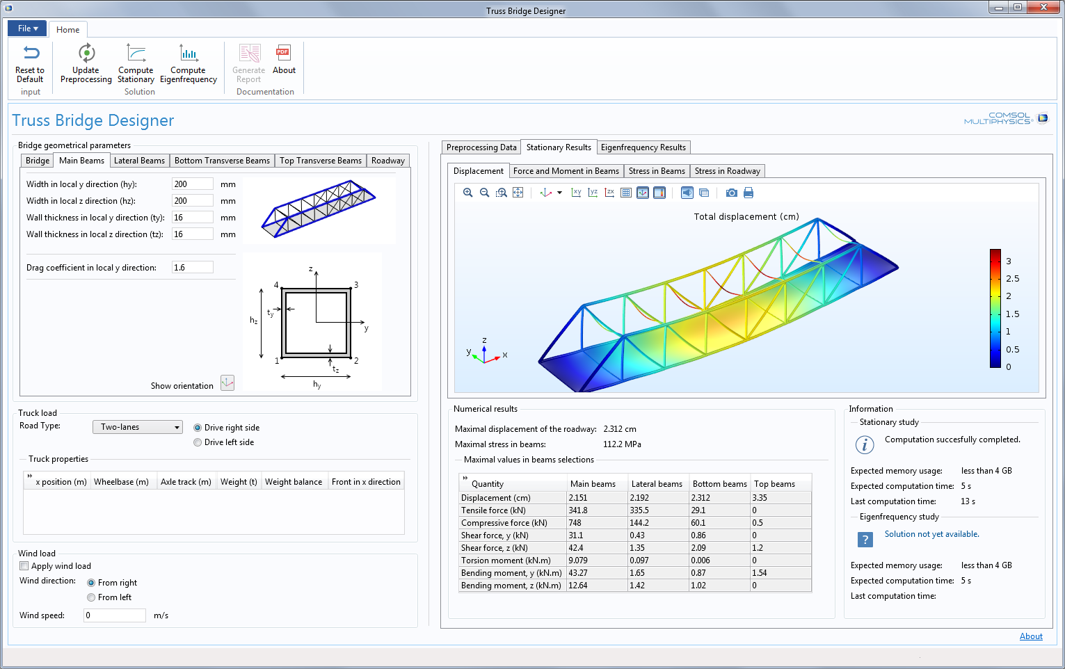 simulation of truss bridge A truss bridge is a bridge whose load-bearing superstructure is composed of a truss, a structure of connected elements usually forming triangular units.